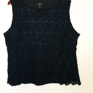 Midnite blue lace covered shell